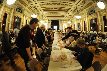 Eastbourne General Election - Town Hall 8/6/17 (Photo by Jon Rigby)