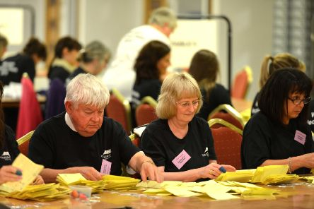 Wealden election count, photo by Peter Cripps