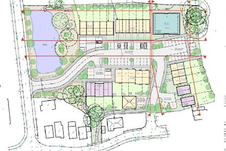 Revised layout of 35-home Eastbourne development