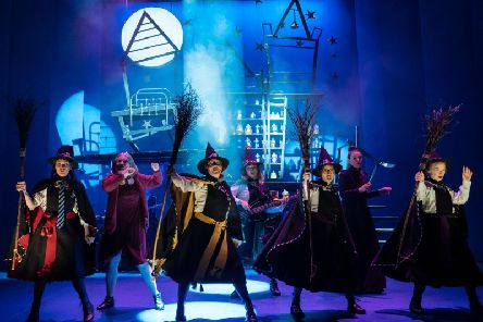 The Worst Witch company: Danielle Bird as Mildred, Polly Lister as Miss Cackle, Rebecca Killick as Maud, Meg Forgan as Fenella, Emma Lau as Drusilla, Rachel Heaton as Miss Hardbroom, Rosie Abraham as Ethe