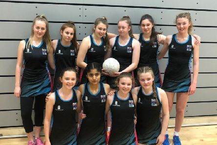 Market Harborough Youth Netball Clubs under-14s . Back from left, Caitlin Swallow, Amelia Dunn, Gracie Barkworth (captain), Evie Watts, Daisy Provis, Tabitha Tooms. Front: Elena Bensi, Micha Raja, Evie Van Nierop, Poppy Page.