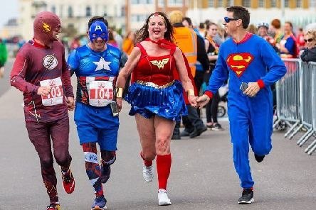 Runners in last year's Rise Heroes Run by Hove Lawns
