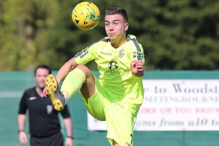 Davide Rodari scored both of Hastings United's goals in the 2-2 draw at home to Ashford United. Picture courtesy Scott White