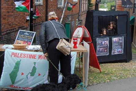 The Hastings & Rye Palestine Solidarity Campaign was in Rye High Street. Picture by HRPSC SUS-190517-154020001