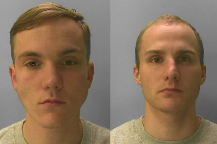 Reece Lefevre and Tyler Jones. Picture supplied by Sussex Police