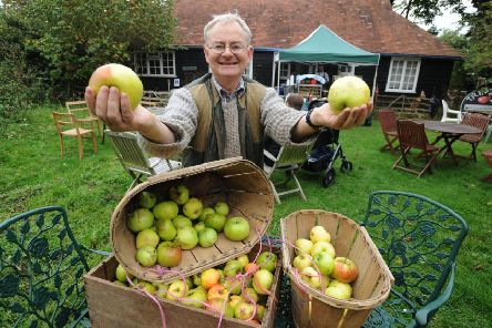 Tring Apple Fayre organiser Martin Hicks at his Jeacock's Orchard cottage