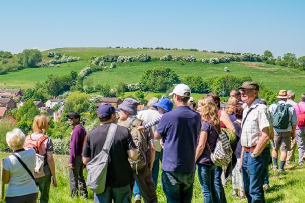 Walkers are rewarded with fantastic views over the Wolds countryside'''Picture by David Dales EMN-190904-075214001