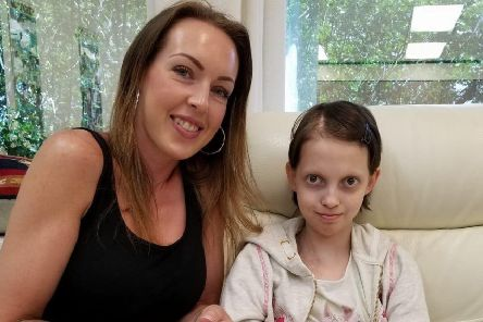 Demi Knight, pictured with her mum Mel last year.