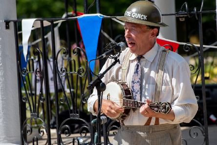 The George Formby experience at Jubilee Park, as part of the Woodhall Spa 1940s Festival last year. Picture: John Aron.