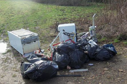 The scene on the outskirts of Martin which resulted in a 940 for the fly tipper.