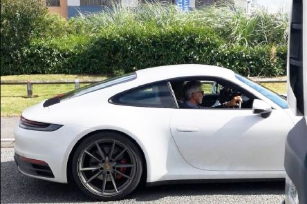 Formula 1 racing legend Damon Hill was spotted travelling with the Top Gear team. (Photo supplied by Wayne Crawford).