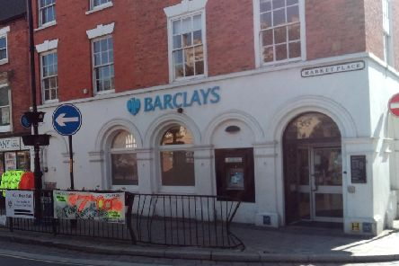 Ringfenced from closure for the next two years - Sleaford's Barclay's bank branch.