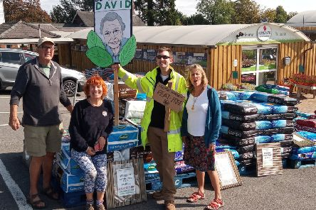 Protesters make their point at Horncastle Garden Centre