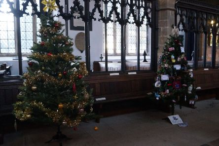 Two of the trees decorating St Mary's  EMN-190612-075327001