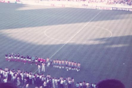 View from the stands as Scotland take on Brazil in 1982