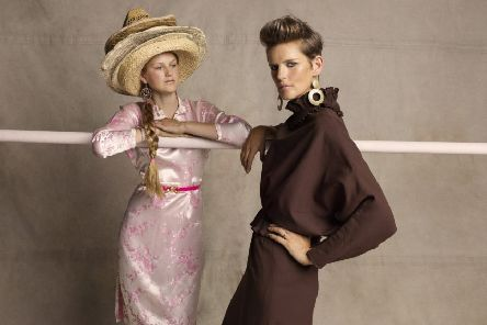 Stella Tennant and her youngest daughter Iris, styled by Bay Garnett and photographed by Tom Craig for Oxfam's Second Hand September campaign.