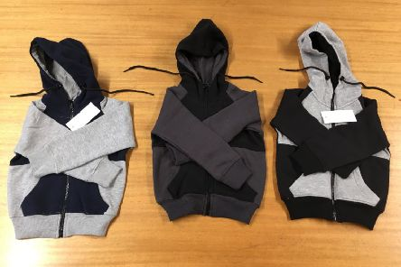 Some of the hoodies seized by Warwickshire County Council's Trading Standards Officers.
