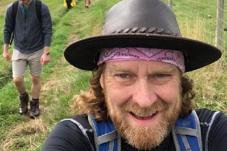 Martyn Wells preparing for the Cape Wrath Trail after tackling the Severn Way last year