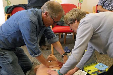 A Kenilworth Heartsafe CPR training session. Photo submitted.