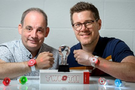 Pictured: Mark Habberley & Darrell Butler with their Twistii torhces.