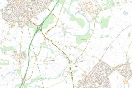 Map of the proposed K2L cycle path