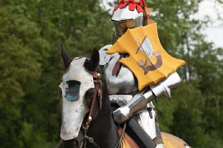 A knight ready for action at Kenilworth Castle