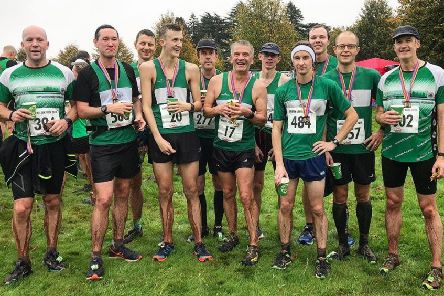 Damp Kenilworth Runners at the finish of the Green Leek 10k. Picture submitted
