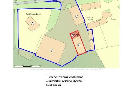 Plan for the gin distillery at East Chase Farm