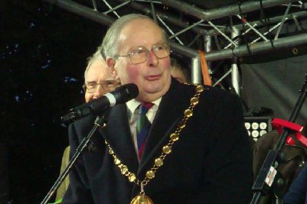 Cllr George Illingworth gives his speech at the Trees of Light launch in Leamington.