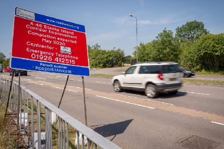 'Improvement works' are currently taking place at Stanks Island and Birmingham Road in Warwick.
