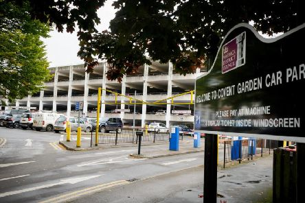 The Covent Garden multi-storey car park in Leamington town centre.