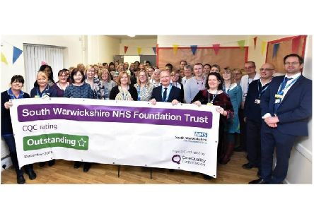 Staff at the South Warwickshire NHS Trust Foundation have been celebrating the CQC rating the trust received in December