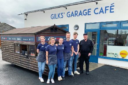 The Fastest Shed and the crew from the Gilks Garage Cafe in Kineton
