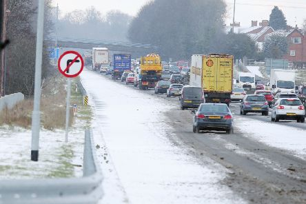 Warning of poor driving conditions: ''Picture by Jonathan Porter/PressEye