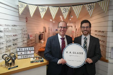 Michael Dorman and Michael Thompson are celebrating 30 years in business at R.A. Glass Larne.