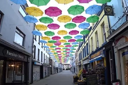 West Street in Carrickfergus had an eye-catching splash of colour