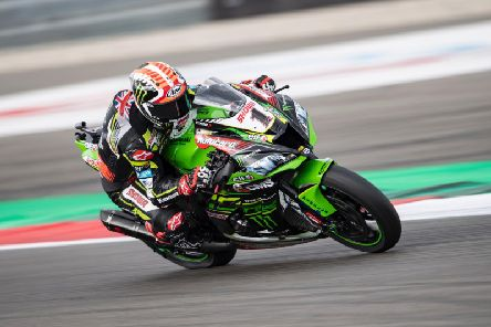 Jonathan Rea finished third in race two at Assen on Sunday.