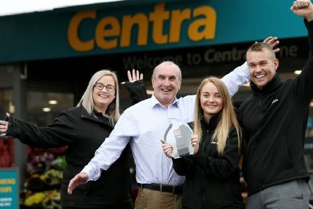 Staff at Lusty's Centra.