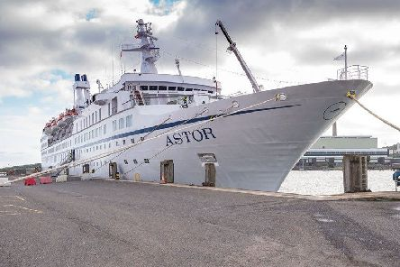 The Astor docked in Larne.