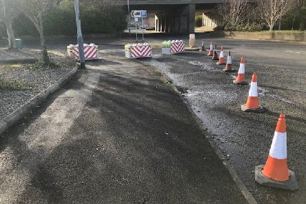 The lorry park off Circular Road roundabout, Larne, has been closed by Mid and East Antrim Council.