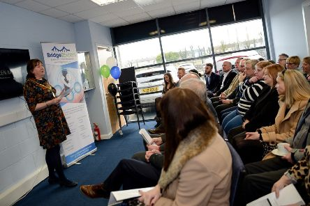 The Mayor of Mid and East Antrim, Cllr Maureen Morrow, addresses guests at the anniversary celebration.