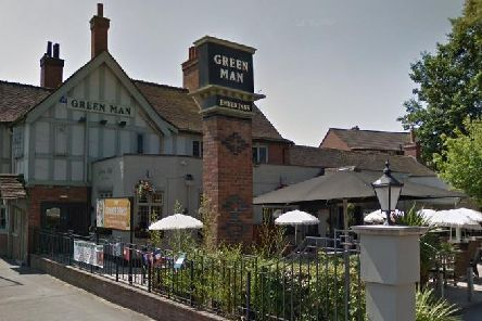 The Green Man in Warwick Road has introduced a new parking system. Copyright: Google Street View