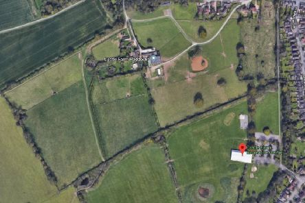 A sheep was attacked on land which is part of Castle Farm Paddocks, which runs adjacent to the Castle Farm Recreation Ground. Photo from Google Maps.