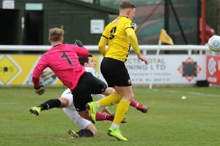 The build-up to the only goal of the game in Brakes' victory over Southport. Picture: Tim Nunan