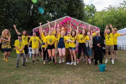 Volunteers and organisers for Art in the Park 2018.