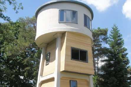 Burton Green water tower holiday home