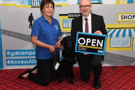 Matt Western MP has supported a campaign to tackle discrimination against guide dog owners.
