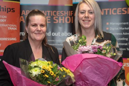 Christine Cuisick, Trainer and Clare Ebbon, Lead Training Advisor at Chamber Training, whose'support and encouragement was acknowledged by the Apprentices under their guidance.