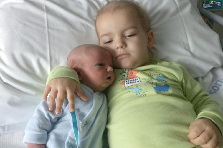 Romeo and his baby brother Cristiano.