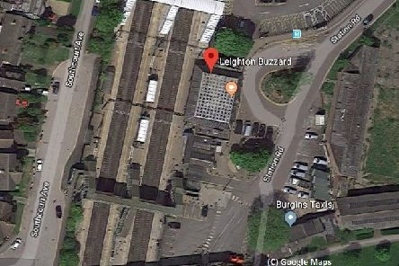 A satellite view of Leighton Buzzard Train Station. Photo from Google Maps